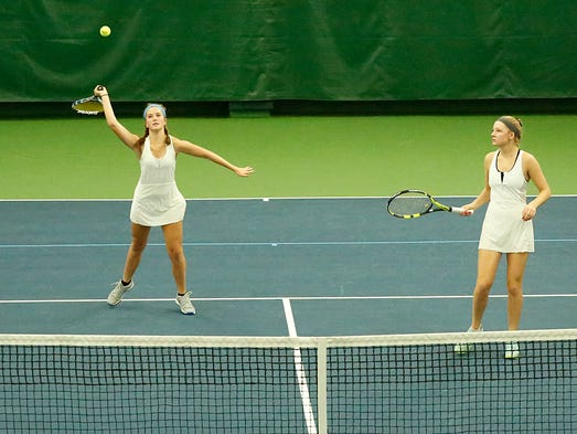 Kohler High School's Ava Hoffmann and Elly Udovich