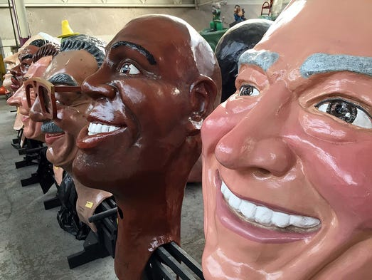"""Big Heads"" of famous people will be a part of America's"