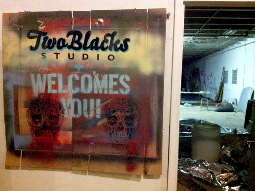 Two Blacks Studio is a workspace inside Recycle Here!,