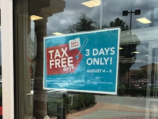 Some Lee County stores promoted the 2017 Florida Sales Tax Weekend with placards and signs.