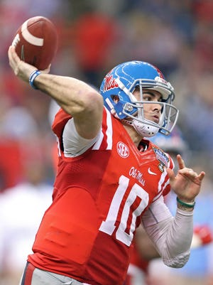 Mississippi quarterback Chad Kelly, the SEC's leading returning passer.
