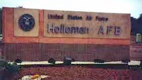 Holloman Air Force Base is located south of Alamogordo.