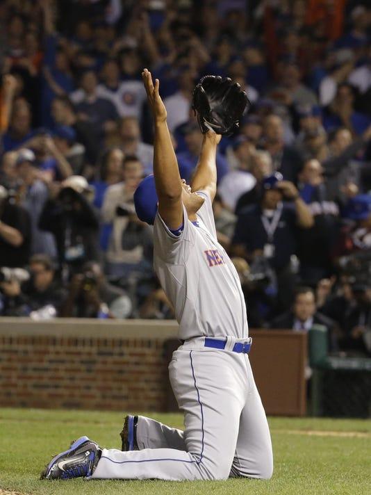APTOPIX NLCS Mets Cubs Baseball