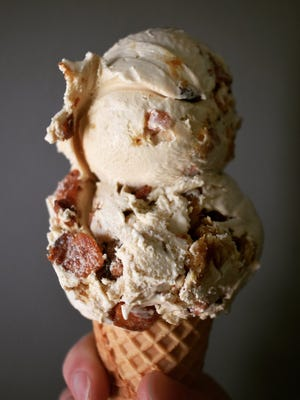 Windy Brow Farm's Taylor ham and French toast ice cream.