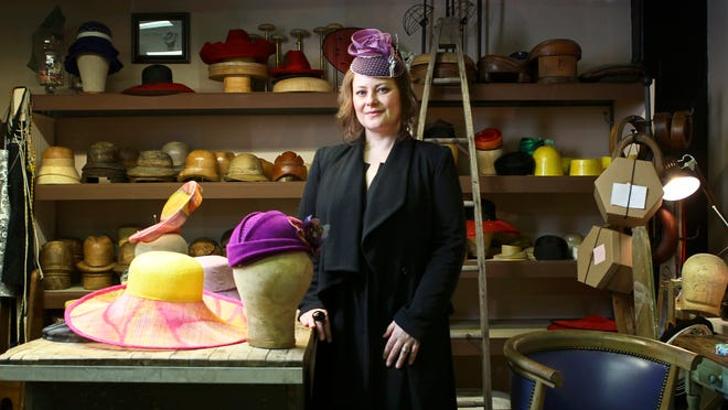 Jenny Pfanenstiel is the owner of Formé Millinery Co. in the Mellwood Arts Center on Mellwood Avenue. Each hat Pfanenstiel crafts takes up to four days to make from start to finish. She was won many national and international awards for her millinery skills and hat designs.