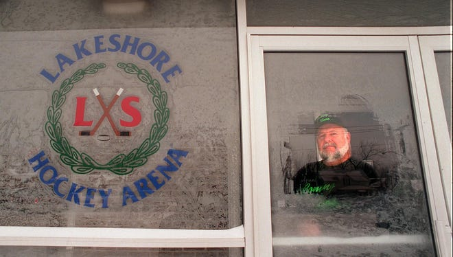 Bruce Rizzo, then the owner of Lakeshore Hockey Arena, is seen in this 1996 photo. He sold the business in 2012.