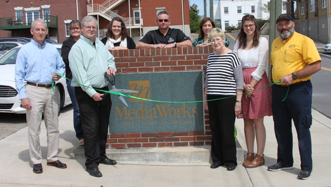 Pictured from the left are Charlie Gentry, Patty Myers, Frank White, Danielia White, Jim Durrett, Michelle Newell, Natalie White, Ashley Steeves and Daryl Pater CMC Green Certification Steering Committee Member and owner of MainStream Heating & Cooling.