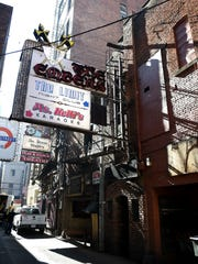 Printers Alley's historic Embers building which will be demolished soon.
