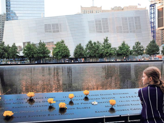 Charlotte Newman visits the National September 11 Memorial