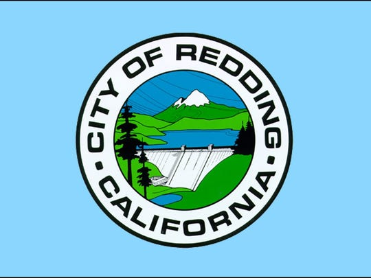 This image shows the flag flown at Redding City Hall.