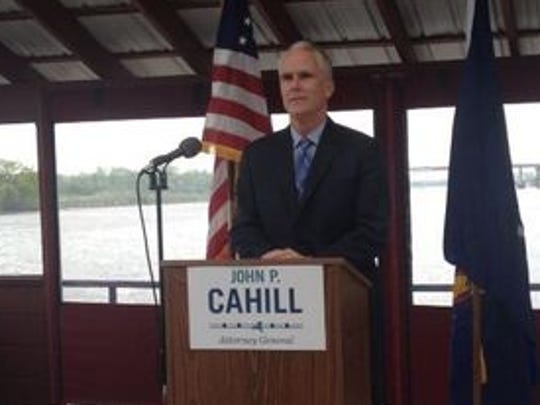 John Cahill, the Republican candidate for New York attorney general, at a campaign event.