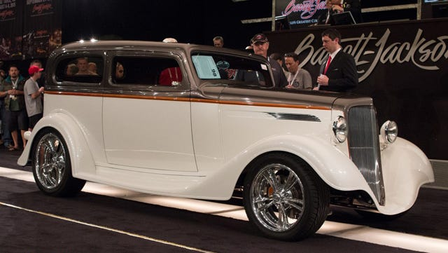 This custom 1933 Chevrolet two-door was the top-seller Monday, Jan. 12, 2015, at the Barrett-Jackson Collector Car Event at WestWorld of Scottsdale.