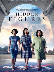 "The movie poster for ""Hidden Figures."""