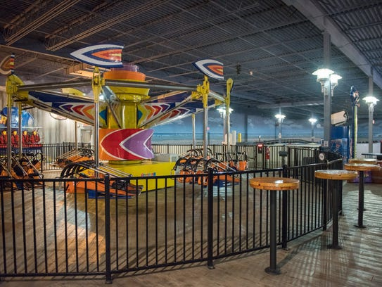 iPlay America offers indoor boardwalk rides for rainy