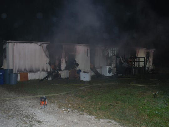 A Fort Myers home was destroyed in a fire Friday morning,