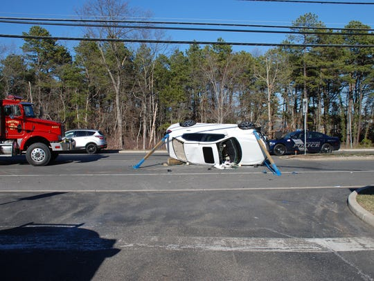 An 82-year-old Whiting woman was hospitalized after