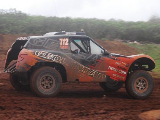 Ikuo Hanawa in the No. 712 Geolander won the main event at APL Smokin Wheels 2018 at the Guam International Raceway, held in April.