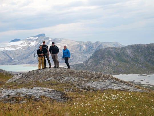 Brian Hampton and team members in Norway.