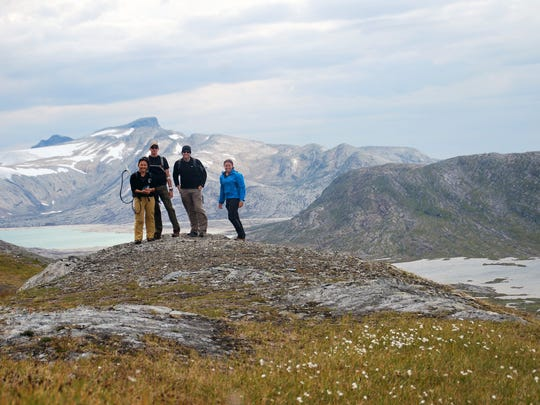 Brian Hampton and team members in Norway.