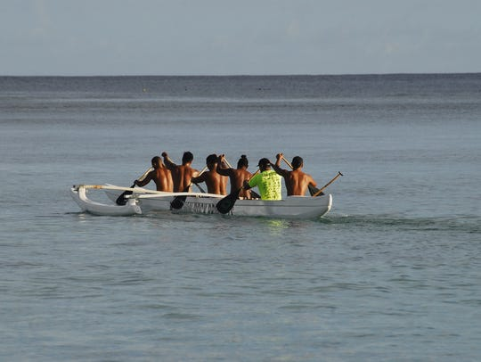 Guam's men's outrigger canoe, or va'a team, is in prime