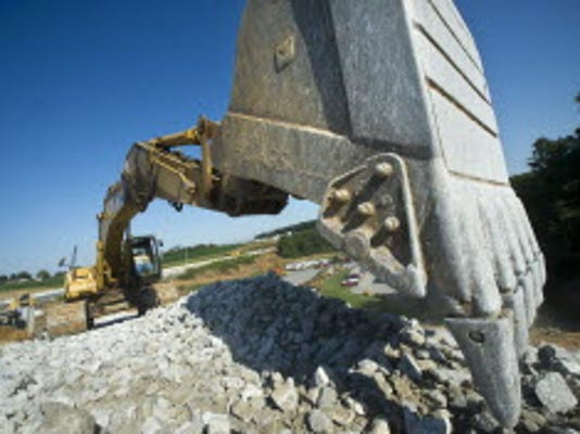 A picture of this digger was taken at the Loganville interchange last summer. YORK DAILY RECORD/SUNDAY NEWS--JASON PLOTKIN