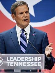 Republican gubernatorial candidate Bill Lee speaks