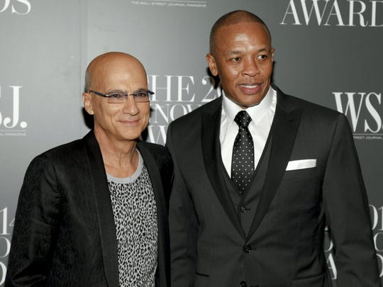 Jimmy Iovine, left, and Dr. Dre, were the founding