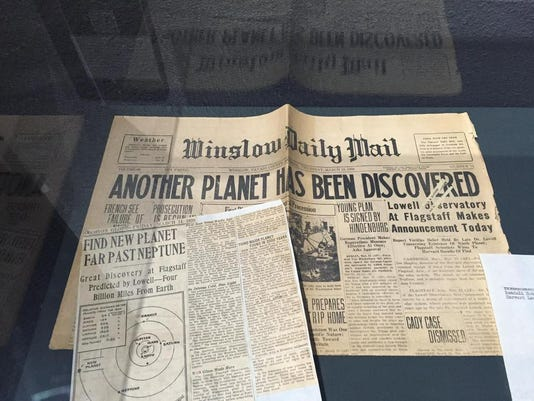 Arizona newspaper covering the planet discovery