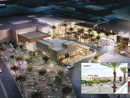 A rendering of an aerial view of a renovated Scottsdale
