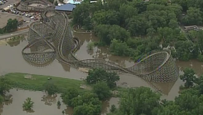Valley Fair has temporarily shut down 3 popular roller coasters due to flooding.