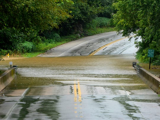 Trinity Road, Route 616, remains closed due to the
