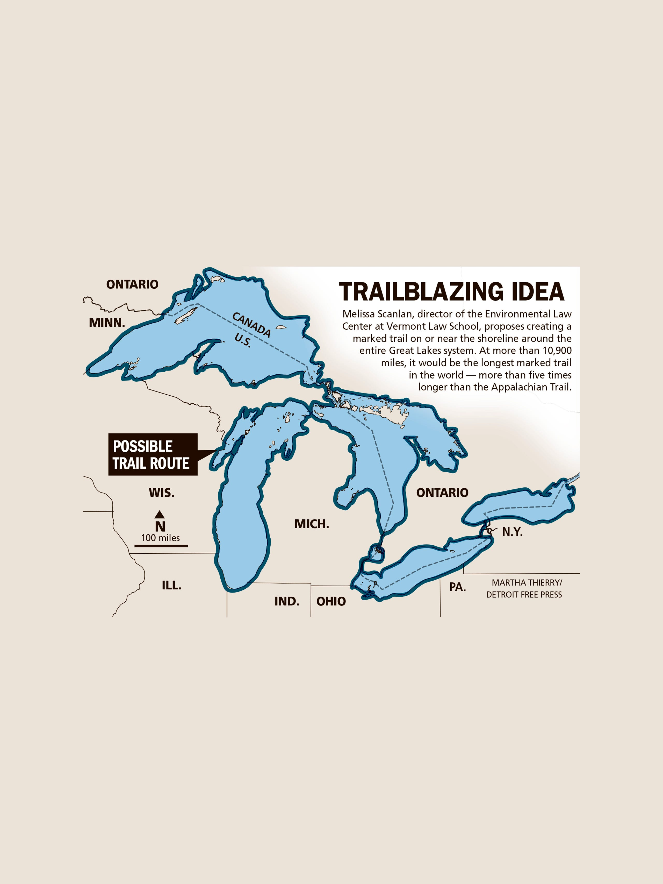 Worlds longest marked trail proposed around Great Lakes
