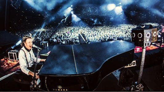 """Paul McCartney worked with the team at Jaunt during his Out There tour in 2014 in order to come up with a short film showcasing the Beatle performing """"Live and Let Die"""" in 3-D virtual reality."""