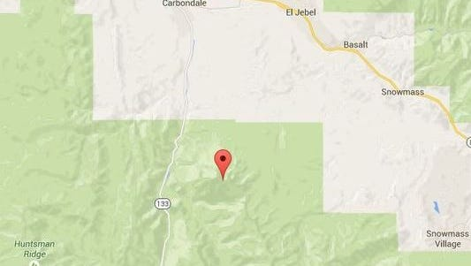 Mt. Sopris from a Google Maps view