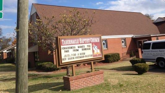 Bristol Development Group no longer has the Tabernacle Baptist Church location under contract.