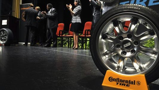 In 2011, South Carolina state and local officials react to news that Continental Tire planned to construct a plant there. Continental Tire's Mississippi plant is expected to be in operation by 2019.