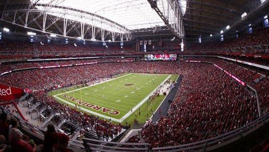 University of Phoenix Stadium, home of the Arizona Cardinals, in Glendale, Arizona.