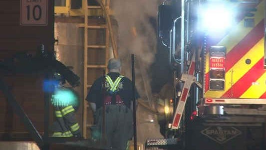 Crews fight a fire at a Batavia chemical plant.