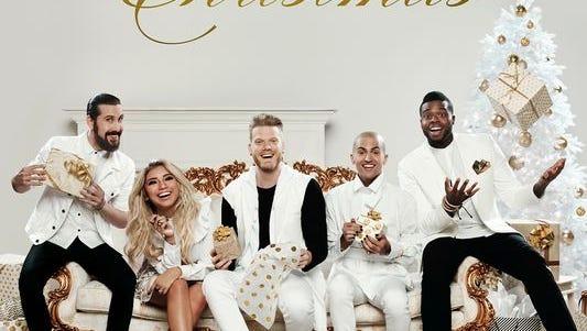 """""""A Pentatonix Christmas"""" album cover"""