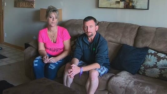 Dawn-Marie and Kevin Gray took cover inside a VIP area during Sunday night's mass shooting in Las Vegas. Then, they stayed to help victims.