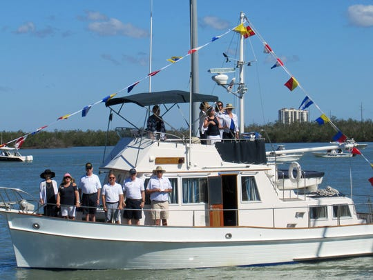 Grand Pelican owners Pete and Peggy Frazier and crew