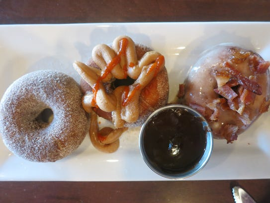 The doughnuts served at One-Eyed Betty's in Ferndale