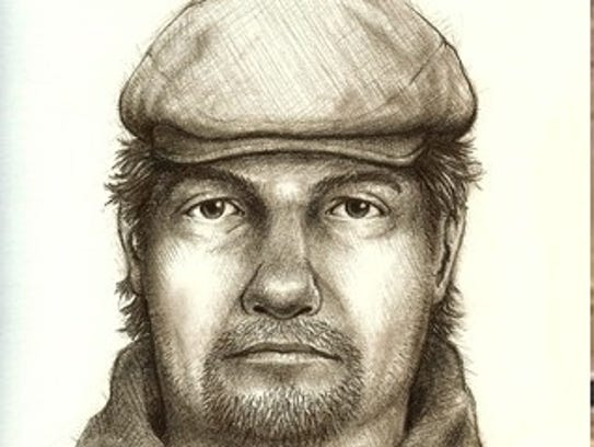 A sketch of Delphi's double homicide suspect compared