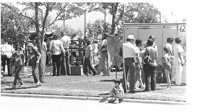 Spring Fling is bustling in this Times Record News file photograph from 1981. The popular arts festival made its home at the Wichita Falls Museum of Art for almost 30 years. The museum is celebrating its 50th anniversary this year.