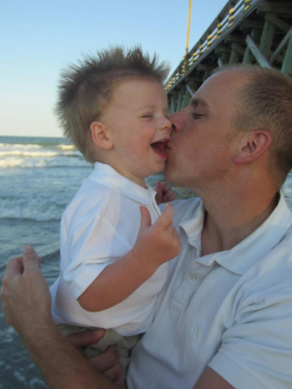 Tripp and his daddy, before the accident.