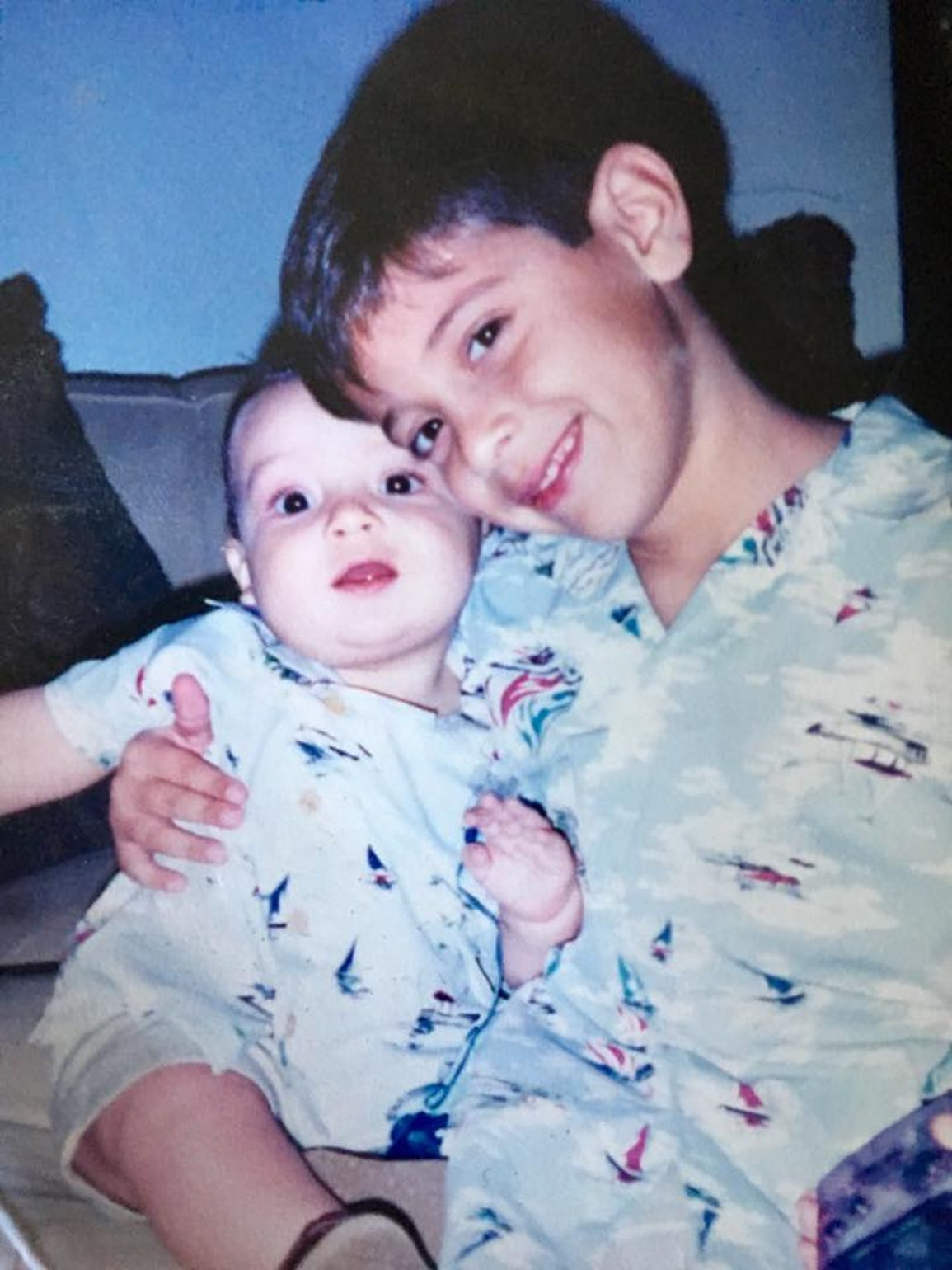 Christian and his brother Cameron as children.