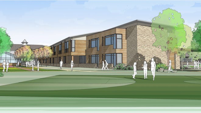 This rendering shows how the French American School of New York's middle/high school may appear at the former Ridgeway Country Club property in White Plains.