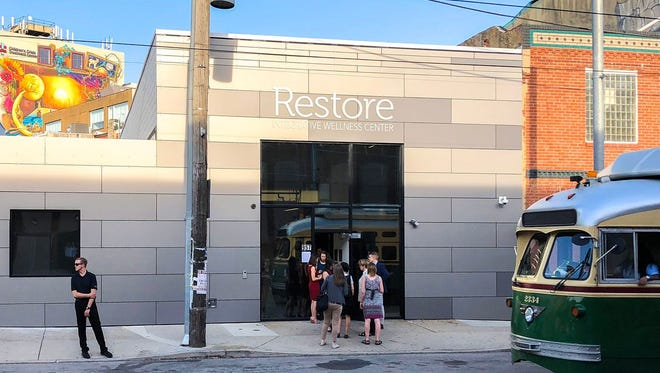 Restore's entrance on Frankford Avenue.
