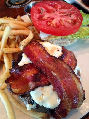 Bacon, ghost pepper cheese burger at ODE.