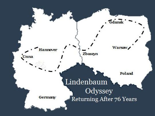A map showing Manfred Lindenbaum's odyssey.